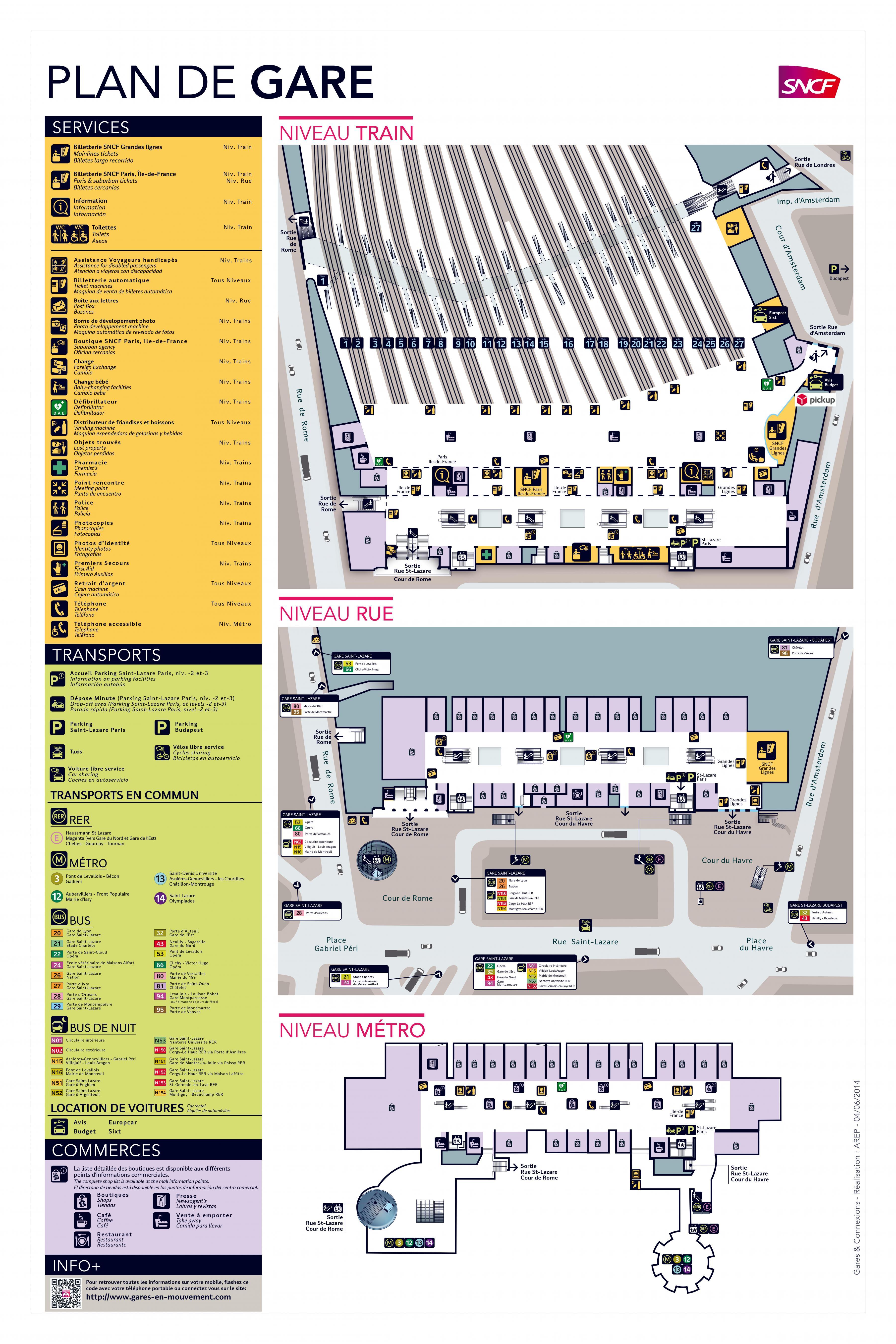 Plan gare de lyon paris