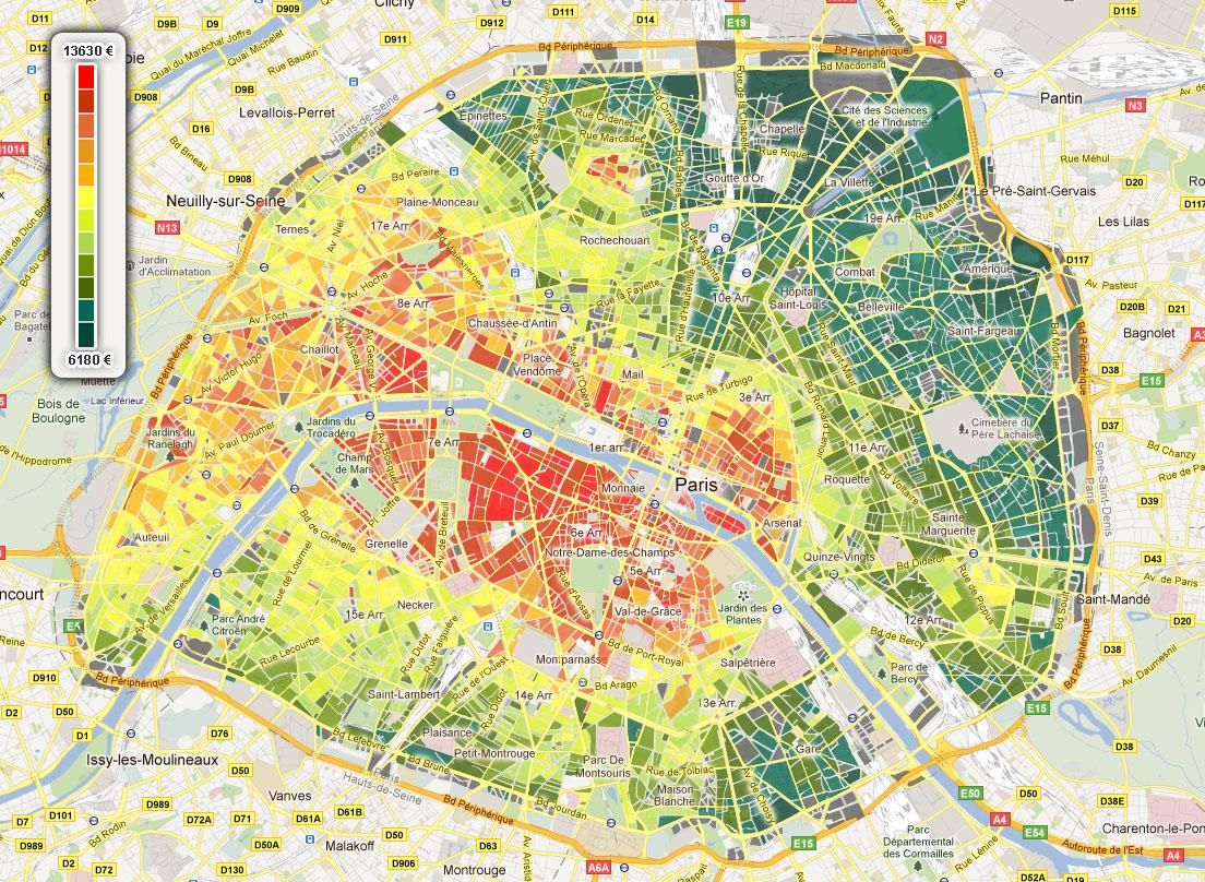 carte prix immobilier paris immobilier   carte prix immobilier paris